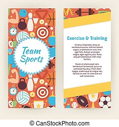 Flyer Template of Exercise and Training Sport Objects and Elements