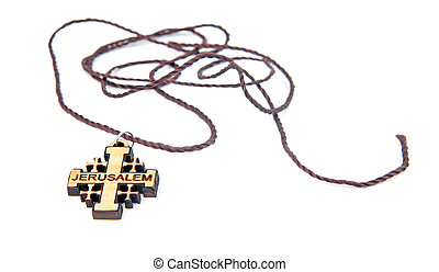 wooden cross isolated