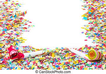Carnival, confetti, background