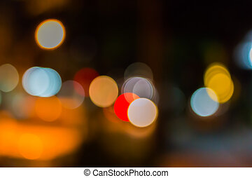 Out of focus of city lights