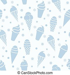 vector seamless icecream pattern
