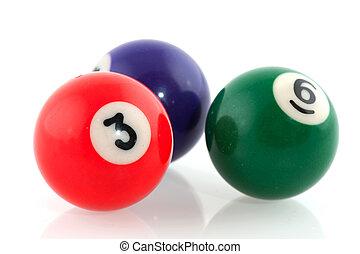 Billiard balls - Pool billiard balls in different colors...