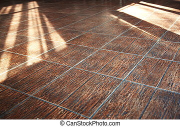 Stony floor with sunlight shadows Horizontal photo