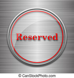 Reserved icon Internet button on metallic background