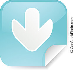 Down arrow sticker - Navigation icon sticker with arrow...