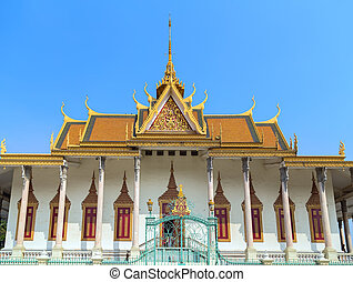 Royal Palace Pnom Penh, Cambodia - Royal Palace exterior in...