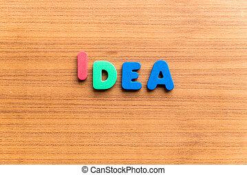 idea colorful word