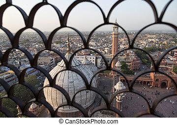 Aerial view of Delhi, India