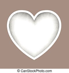 Vector Paper Heart - Vector Illustration of a Paper Heart