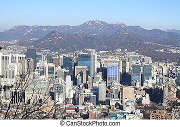 Cityscape of Seoul, Republic of Korea