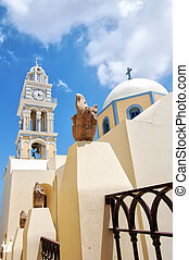 Fira catholic cathedral on santorini