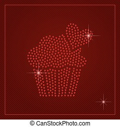 Rhinestone Valentines Day Template - Valentines Day card or...