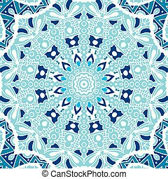 winter blue Seamless ornametal pattern. - Abstract winter...