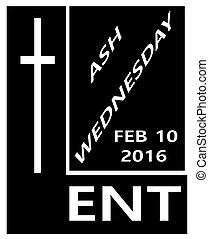 2016 lent icon - 2016 black and white lent icon with the...
