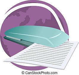 scanner - Illustration of scanner