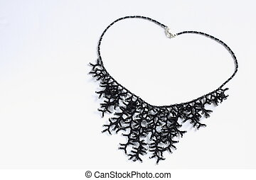 Gorgeous black necklace for special occasions