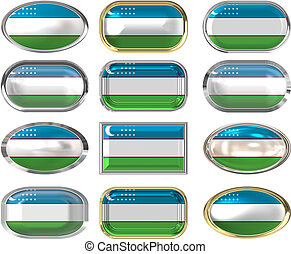 12 buttons of the Flag of uzbekistan