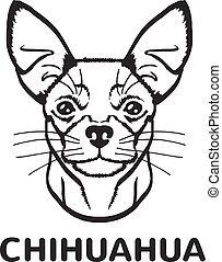 Chihuahua vector black logo icon illustration