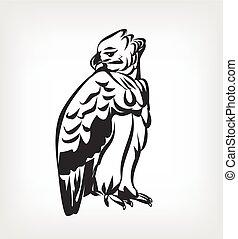 Harpy vector black icon logo illustration
