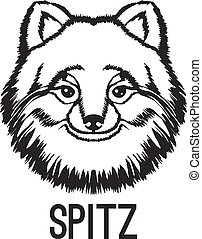 Spitz vector black logo icon illustration