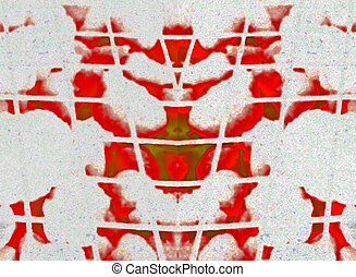 Demon Inkblot - Inkblot test style abstract, what do you...