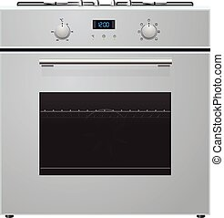 oven - illustration of electric oven with hob