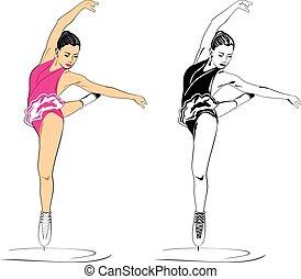 Figure skater Vector illustration