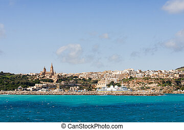 Port of Mgarr on the small island of Gozo, Malta.
