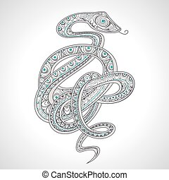 Ornamental snake - Decorative ornamental snake