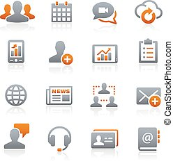 Business Network -- Graphite Series - Vector icons for your...