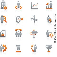 Company Strategies -- Graphite - Vector icons for your...