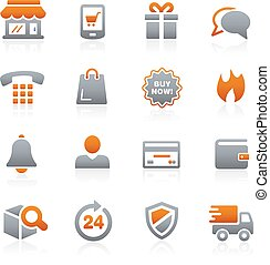 E-Shopping Icons -- Graphite Series - Vector icons for your...