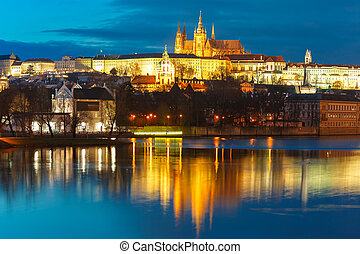 Prague Castle and Charles Bridge, Czech Republic - Prague...