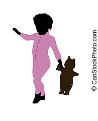 Peter of Peter Pan Silhouette Illustration - Peter of Peter...