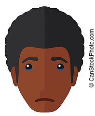 Young crying man. - Young crying man vector flat design...