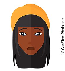 Young depressed woman. - An african-american depressed woman...