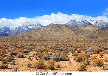 Eastern Sierra mountains - Eastern Sierra mountain landscape...