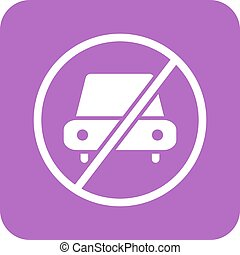 No Parking - No, parking, sign icon vector image.Can also be...