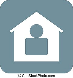 Resident - Residence, home, modern icon vector imageCan also...