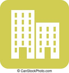 Residential Plaza - Residential, plaza, business icon vector...