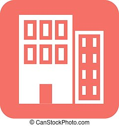 Commercial Plaza - Commercial, plaza, business icon vector...