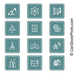 Energy icons || TEAL series - Energy, power and electricity...