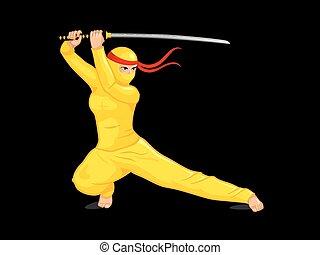 Yellow female ninja