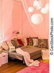 Fairy lights in bedroom - Picture of fairy lights in teen...