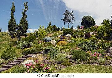 ornamental garden - Shot of the ornamental garden -...