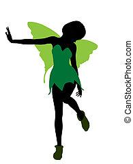 Tinker Bell Silhouette Illustration - Tinker Bell...