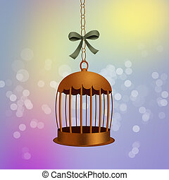 bird cage - illustration of bird cage