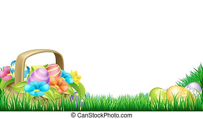 Easter Eggs Basket Frame