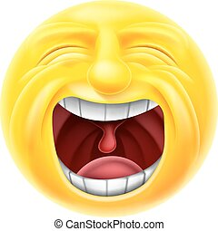 Screaming Emoticon Emoji - A screaming cartoon emoji...