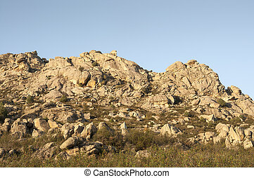 granit, odkrywki